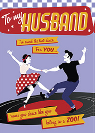 Rock and roll- Husband- Valentine's greeting card. Unit Quantity: 3. Retail: $2.99. Inside: But I love it when its just us two....