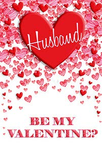 Red hearts- Husband- Valentine's greeting card. Unit Quantity: 3. Retail: $3.99. Inside: Happy Valentine's Day!