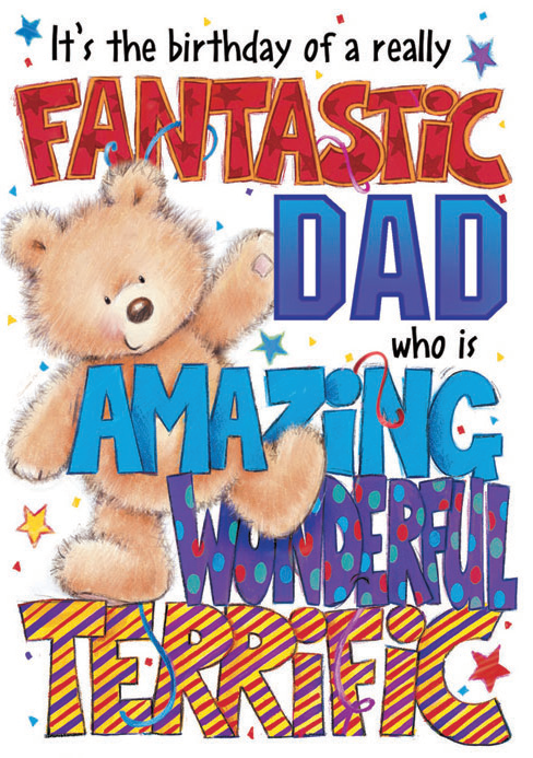 Teddy and stars- Father family birthday card. Retail $3.99. Unit Quantity 6. Inside: ...and you have a heart of gold! That's why you are loved SO MUCH!