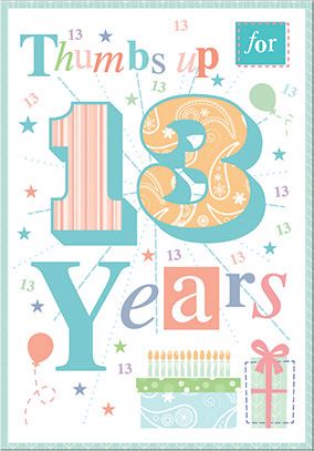 Colorful- 13th age birthday card. Retail $3.49. Unit Quantity 6. Inside:  You have brought so much joy to everyone over the years..