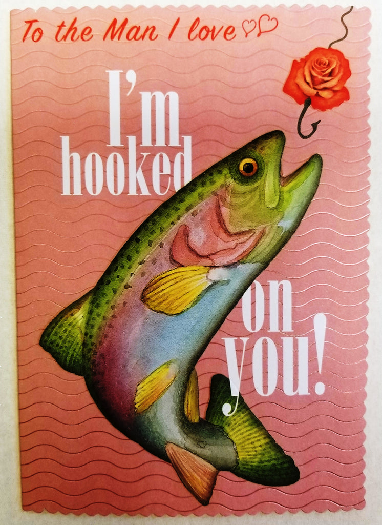 Big fish- Man I love- Carol Wilson Valentine's greeting card. Unit Quantity: 3. Retail: $4.25. Inside: Happy Valentine's Day!...