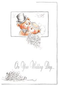 Wedding greeting card Retail: $3.99 Unit pack 6 Inside: And every day that follows..Cherish the love...