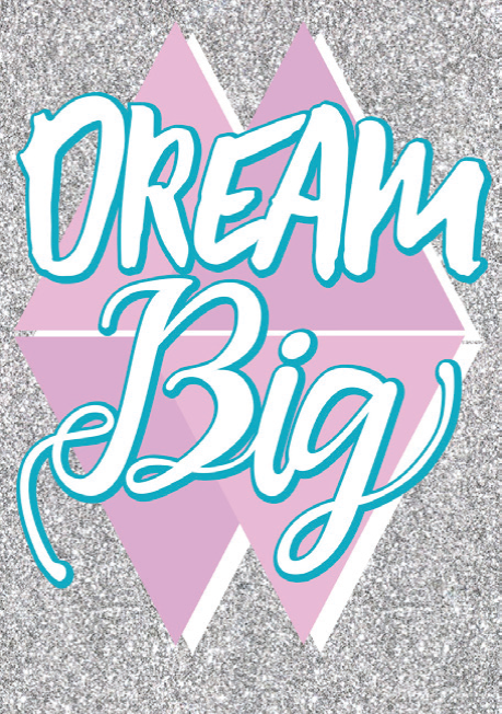 Dream big blank card from the Glitz collection. Retail $3.99. Unit Quantity 6. Inside: Blank