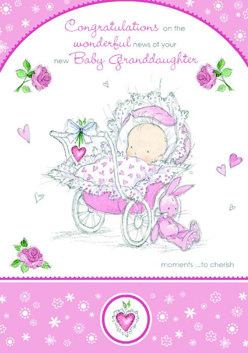 GRANDDAUGHTER GREETING CARD Retail: $2.99 Unit pack 6 Inside: A gorgeous little granddaughter to cherish...