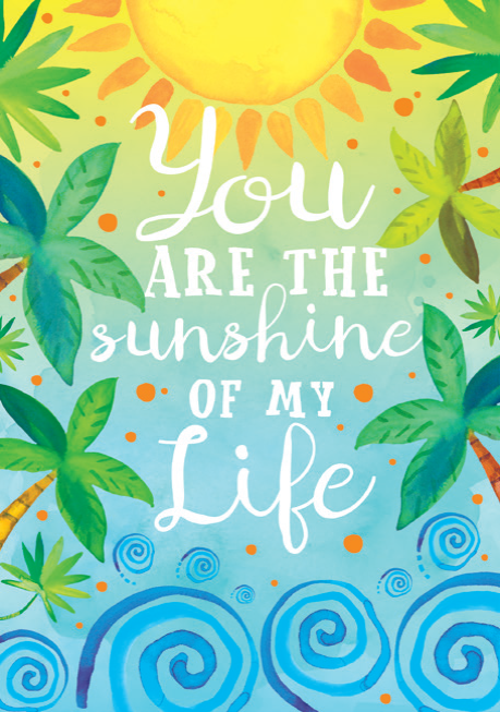 Sunshine General Birthday card from the Sunny Dayz collection. Retail $3.99. Unit Quantity 6. Inside: You bring light and happiness to all those around you...