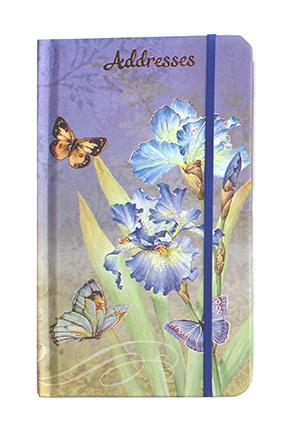 SLIMLINE FLORAL ADDRESS BOOK