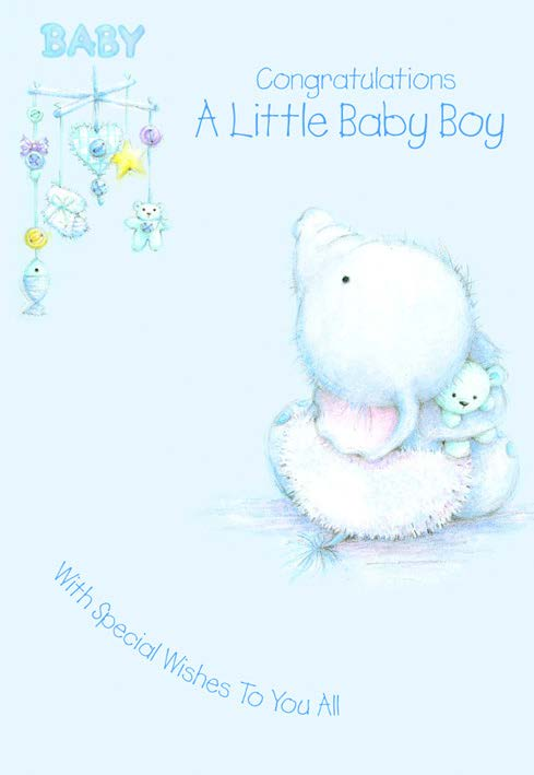 BLUE ELEPHANT - BABY BOY Retail: $2.59 Unit pack 6 Inside: You must be so happy with your darling...