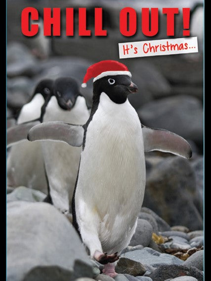 CHRISTMAS CARD PENGUIN IN XMAS HAT Retail: $2.99 Unit pack 4 Inside: Have a brilliant day!