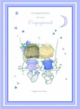 Engagement greeting card Retail: $2.99 Unit pack 6 Inside: Special wishes to you both on hearing the wonderful news