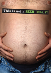 Humor Male Birthday- Beer belly. Retail $2.99 Unit Quantity 6. Inside: It's a GAS TANK to the LOVE MACHINE! Happy Birthday.