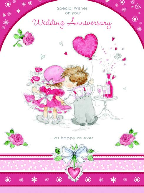 Anniversary greeting card Retail: $2.99 Unit pack 6 Inside: Time flies by so quickly...