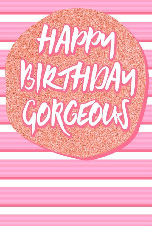 Gorgeous Birthday card from the Glitz collection. Retail $3.99. Unit Quantity 6. Inside: Blank