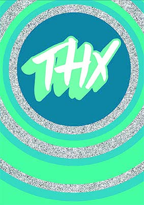 Thx blue thank you card from the Glitz collection. Retail $3.99. Unit Quantity 6. Inside: Blank