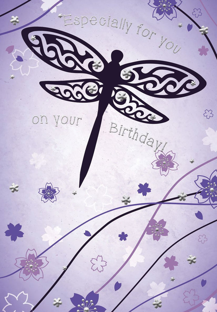 Dragonfly wishes- Female general birthday card. Unit quantity: 6. Retail: $3.49. Inside: Sending you birthday wishes your way, hoping you'll have a wonderful...