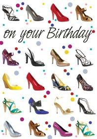 Shoes General Birthday card from the Echo Collection. Retail $2.59. Unit Quantity 6. Inside: Hope it's a personal best!