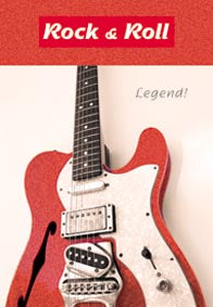 Red guitar Birthday card from the Electric Collection with glitter. Retail $2.59. Unit Quantity 6. Inside: Classic! Have a great birthday.