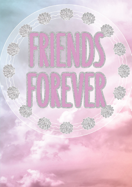 Friends Forever blank card from the Glitz collection. Retail $3.99. Unit Quantity 6. Inside: Blank