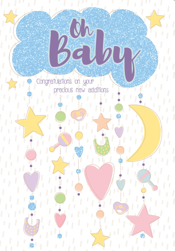 Twins new babies Retail: $3.49 Unit pack 6 Inside: Congratulations on your precious new additions!