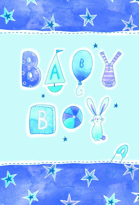 STAR BORDER - BABY BOY Retail: $2.59 Unit pack 6 Inside: Babies are made for living...