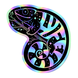 Holographic Galaxy Chameleon Sticker