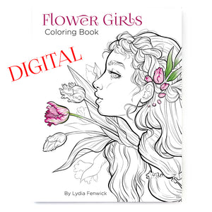 Flower Girls DIGITAL Coloring Book