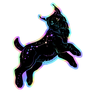 Holographic Galaxy Lynx Sticker