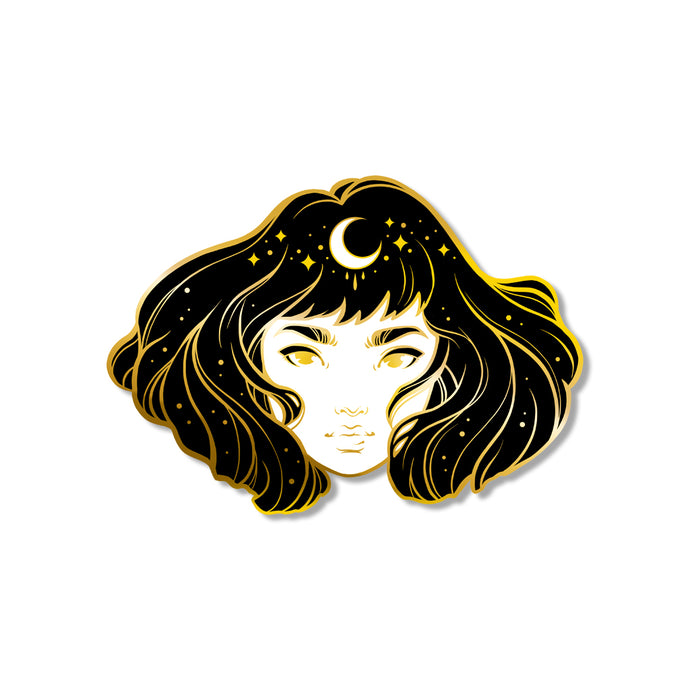 Moon Girl Enamel Pin