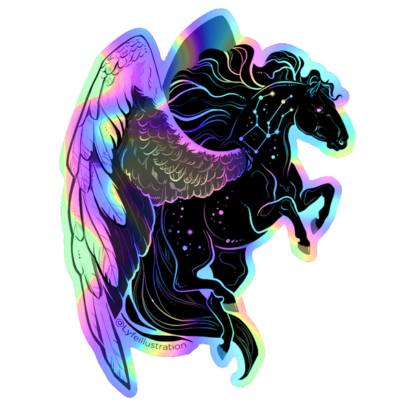 Holographic Galaxy Pegasus Sticker
