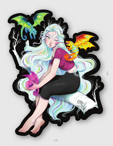 Mother of Tree Dragons Sticker