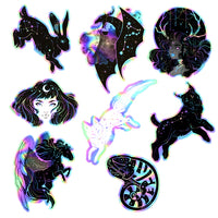8 Holographic Galaxy Sticker Pack
