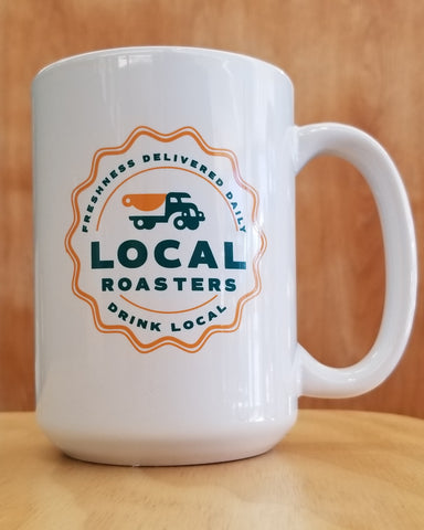 15 oz White Local Mug TEAL
