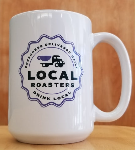 15 oz White Local Mug PURPLE