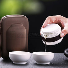 Load image into Gallery viewer, Custom Travel Ceramic Tea Sets Storage Case for Tea Cup