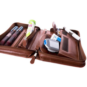 Custom Leather Diabetes Bag Manufacturer