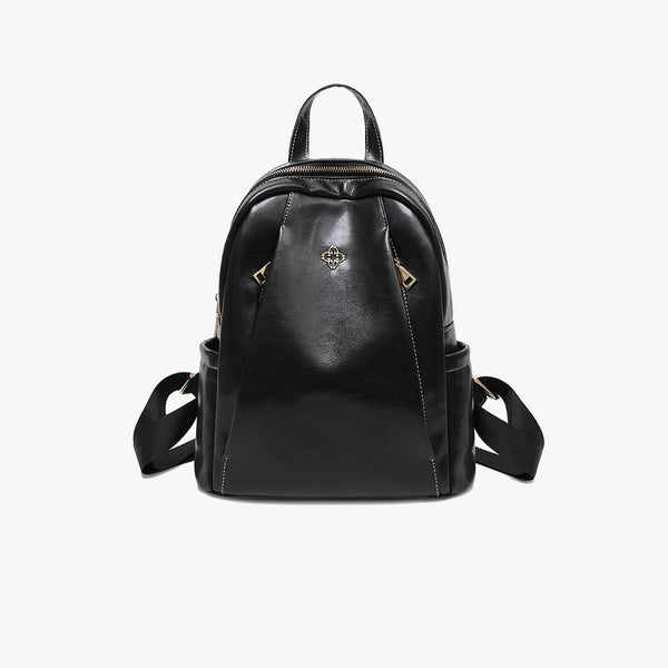 Anti theft Vegan Leather Backpack