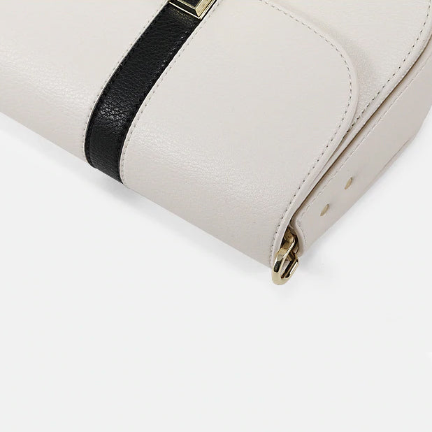 Two Toned Saddle Crossbody Bag