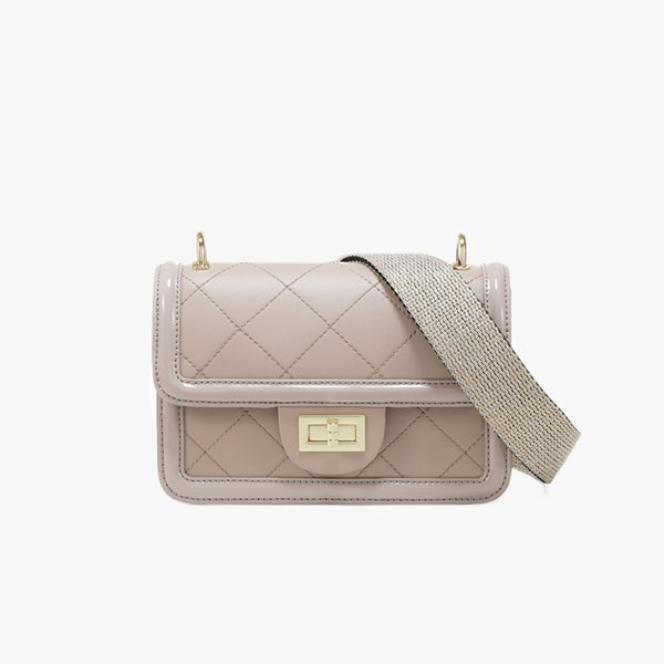 Quilted Pattern Crossbody Bag