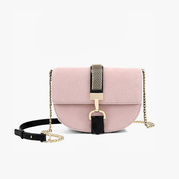 Round Retro Suede Crossbody