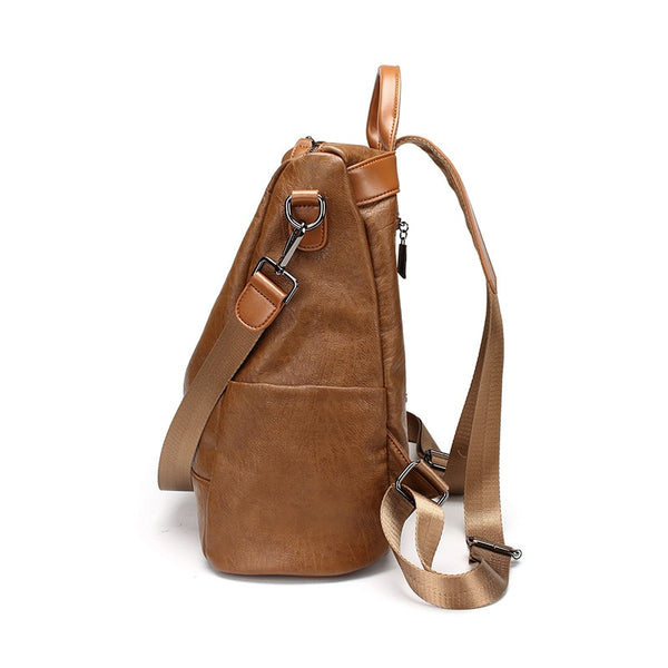 Soft Leather Vintage Backpack