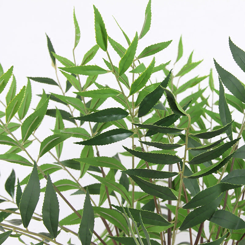 "Artificial Bamboo Leaf Stems 35"" Tall"