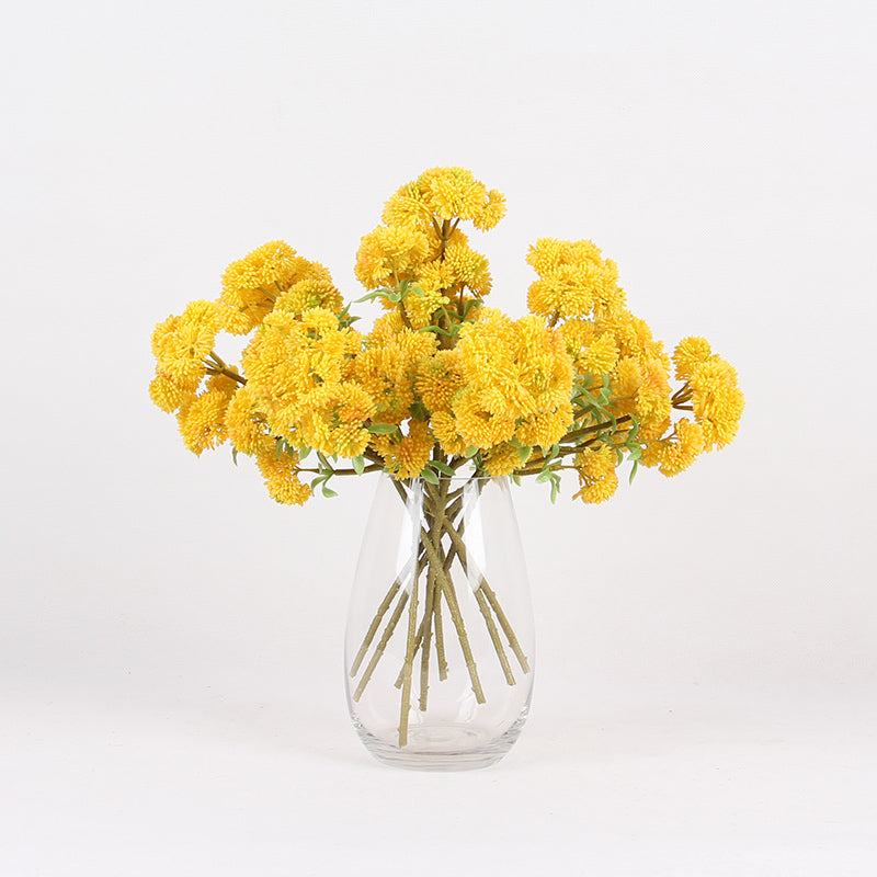 "Artificial Irish Cauliflower Stem in Yellow 13"" Tall"