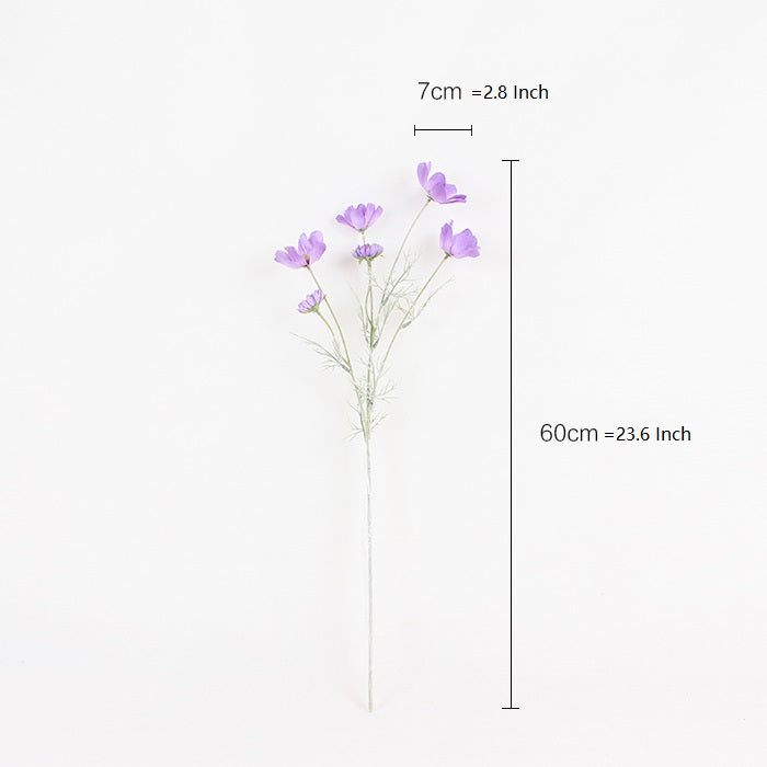 "Silk Cosmos Stem in Purple 24"" Tall"