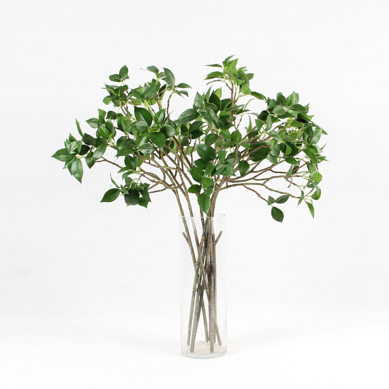 "Artificial Dogwood Leaf Stem 25"" Tall"