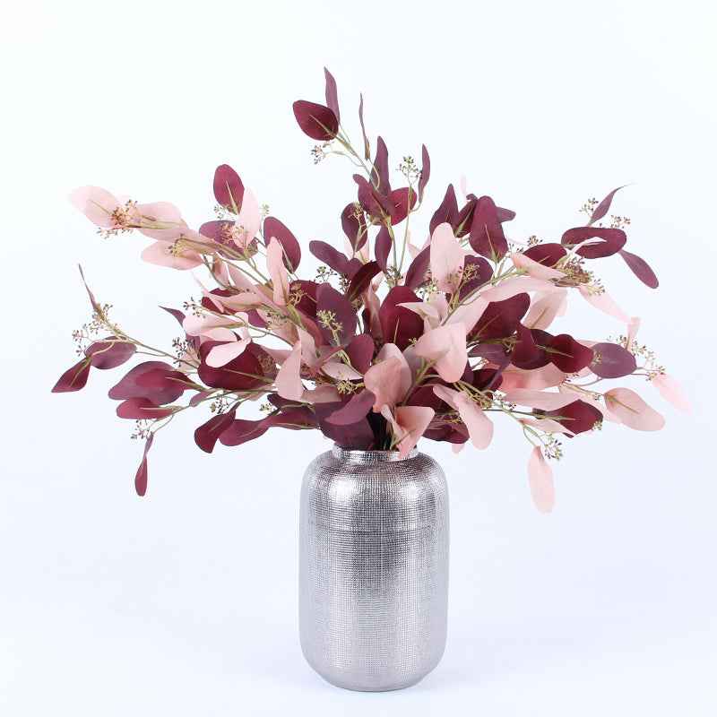"Artificial Eucalyptus in Pink or Red 29"" Tall"