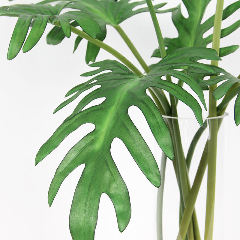 "Artificial Philodendron Leaf Stem 32"" Tall"