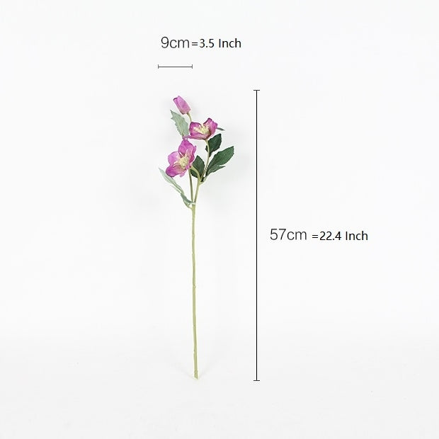 "Silk Purple Christmas Flower Stem 22"" Tall"