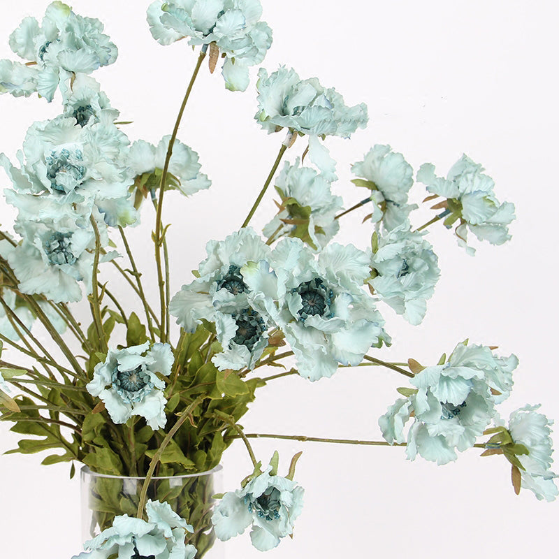 "Silk Cosmos Serrated Petal in Light Blue 25"" Tall"