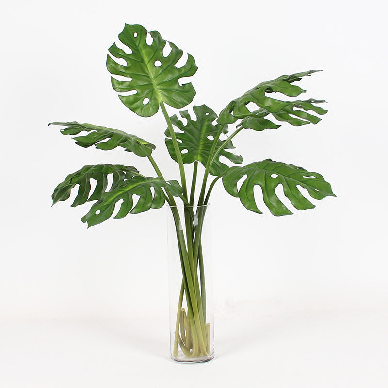 "Artificial Green Turtle Leaf Stem 31"" Tall"