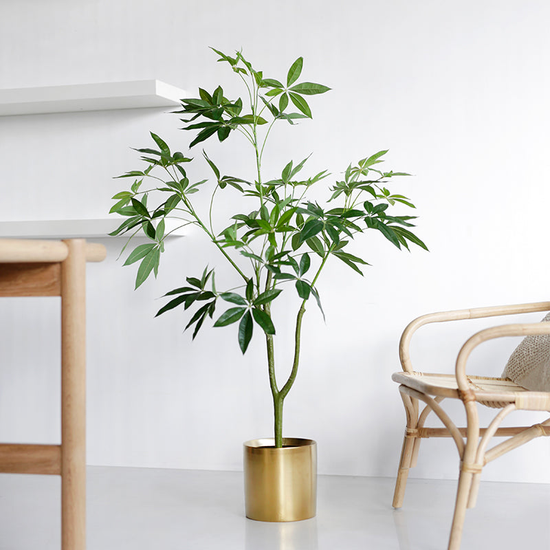 "Artificial Money Tree Plant Guiana Chestnut 47"" Tall"