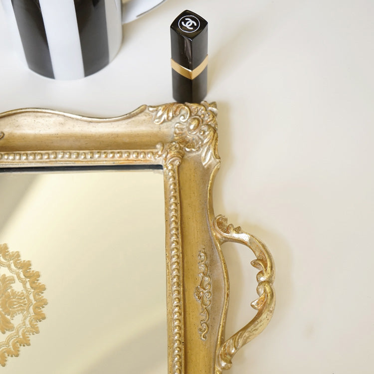 Brass Mirrored Vanity Tray